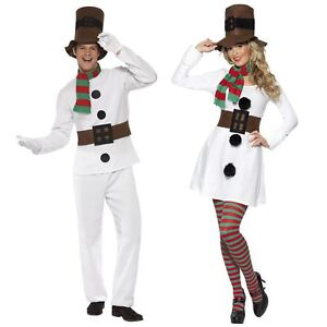 Christmas Fancy Dress.Details About Mr Mrs Snowman Frosty Christmas Fancy Dress Costume Couple His Hers Party Outfit