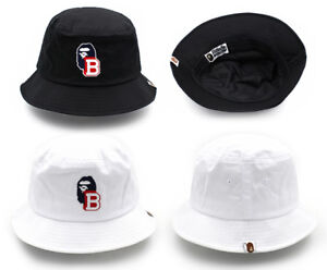91eb5546feb A BATHING APE Hat Ape head one point bucket hat Clothes cap Bland ...
