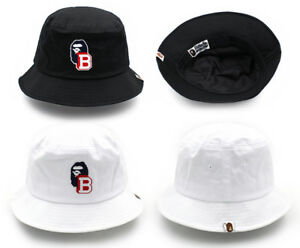 034b9b4df74 A BATHING APE Hat Ape head one point bucket hat Clothes cap Bland ...