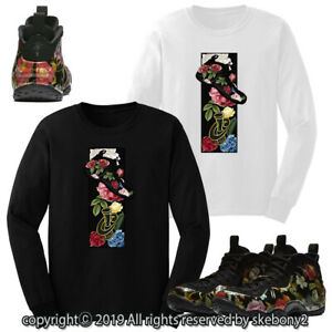 60363128cc1f5 CUSTOM T SHIRT MATCHING STYLE OF Nike Air Foamposite One Floral FOAM ...