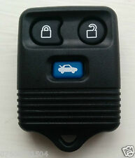 Ford 3 Button Transit Connect Blue Remote Key Fob Case Shell Rubber Buttons Pad