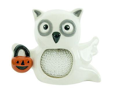 12000 RETIRED~Scrubby Holder~All Owl's Eve~Ghost Pumpkin Kitchen Sink Halloween
