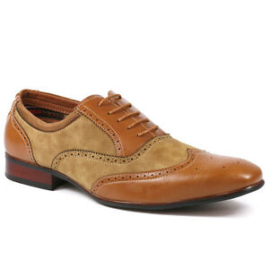 3516058bfa746 Details about Ferro Aldo MFA-19122AL Men's Brown Lace Up Wing Tip Oxford  Dress Shoes 7.5 us