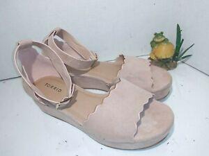 Torrid-Blush-Color-Platform-Sandals-Ankle-Strap-Womens-Size-10-W