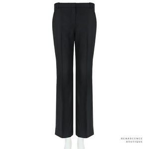 Stella-McCartney-Charcoal-Black-Wide-Leg-Bootcut-Trousers-Pants-IT40-UK8