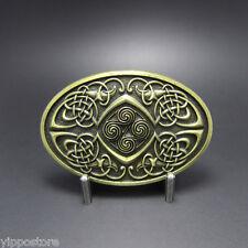 Bronze Keltic Celtic Knot Oval Western Metal Fashion Belt Buckle