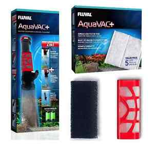 Fish & Aquariums Fluval Aquavac Aquarium Gravel Vacuum Foam Vac Filter Cartridge Pad Fish Tank Latest Technology