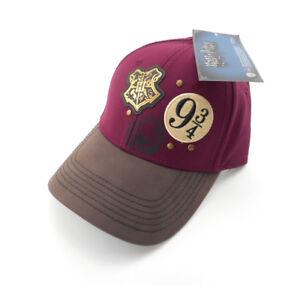 2d4cc433634 NWT Harry Potter Baseball Cap Maroon Hogwarts Crest Platform 9 3 4 ...