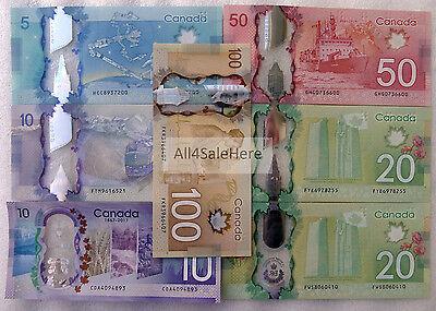 Canada Banknote P106-110 5-10-20-50-100 Dollars UNC