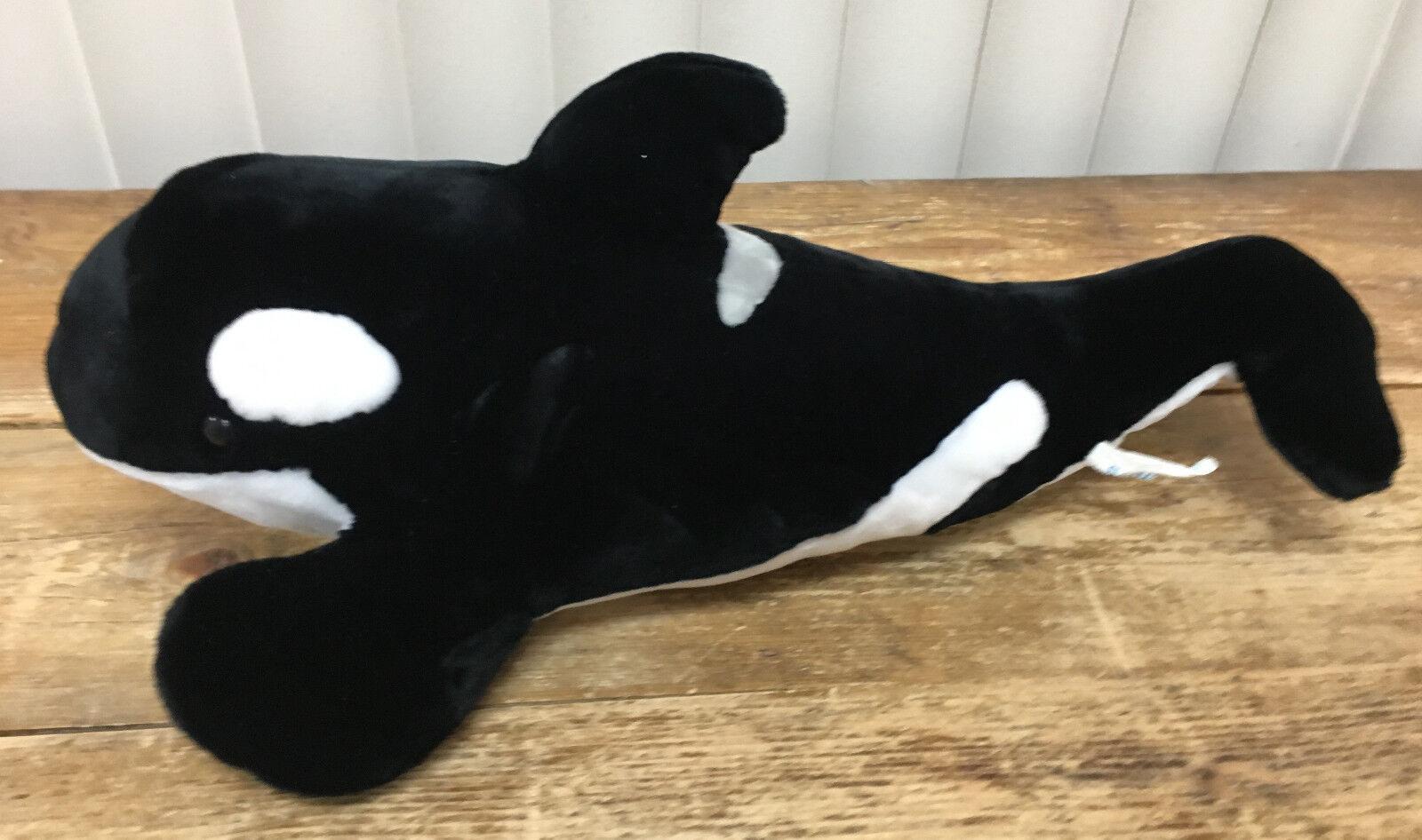 Seaworld Sea World Peluche Nero Bianco Balena Orca Peluche Peluche 20