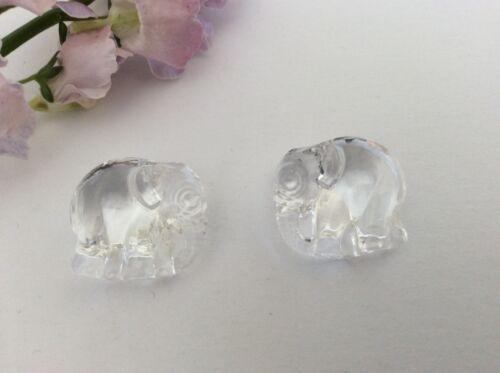 Swarovski Elephant Pendant Crystal 20mm JEWELLERY CRAFT Post Free Pack of 2