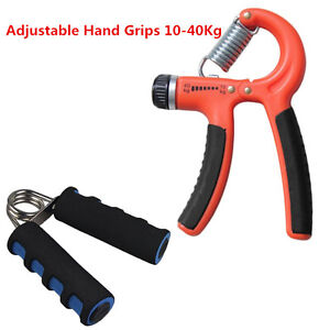 Adjustable 10-40KG Forearm Heavy Grip Hand Gripper Strength Training Red VE