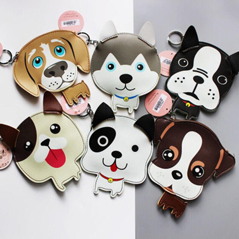 Mini Pet Puppy Bag Coin Purse Keyring Cute Ornament Charm Dog Pendant Wallet LA