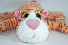 "Russ ZOEY Large Green eyes Plush Stuffed Animal 14"" long Tiger Kitty Cat"