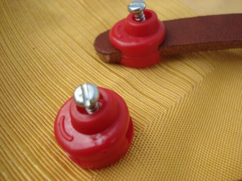 Vintage.NOS.REG TOE-STRAP BUTTONS WHITE or TELL ME BLUE or RED INSTEAD