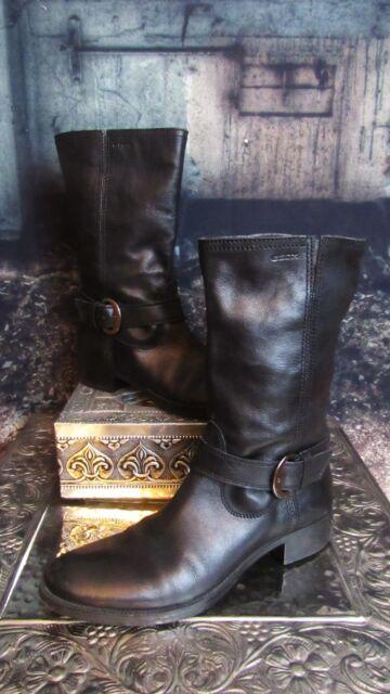 b93e503f58b7 GEOX Black Buckle Leather Boots. Euro Size 39. US 8.5. India Soft ...
