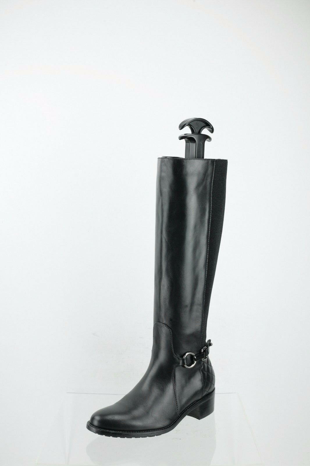 Aquatalia by Marvin K. Black Leather/Elastic Boots Women's Shoes Size 4 M NEW