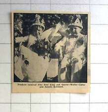 1963 Walter Cutter,Jeanette Robinson Pendeen Carnival Tiny Tots King,Queen