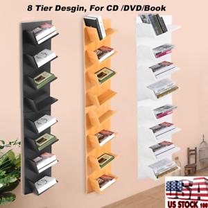 Image Is Loading 8 Tier CD DVD Book Wall Mount Shelf