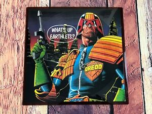 FINK-BROTHERS-What-s-Up-Earthlets-45-Record-Picure-Disc-JUDGE-DREDD-Mega-City