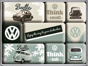 Vw Auto Kühlschrank : Vw beetle bulli auto bus nostalgie kühlschrank magnet set 9 tlg tin