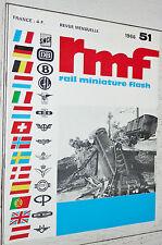RMF RAIL MINIATURE FLASH N°51 1966 TRAINS LOCOMOTIVES HO RIVAROSSI HAG LIMA