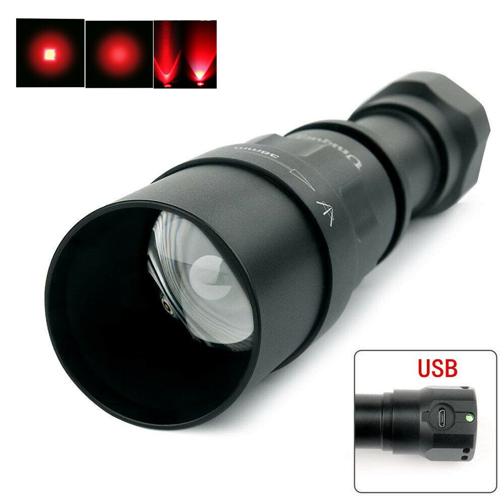 UniqueFire 1605 CREE XPE Red LED USB Rechargeable Zoomable Flashlight  + RAT Tail  export outlet