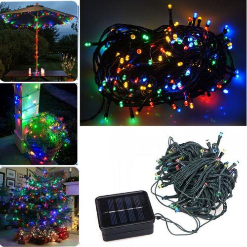 8M 60 LED Solar Power String Light Outdoor Fairy Lights Christmas Wedding Decor