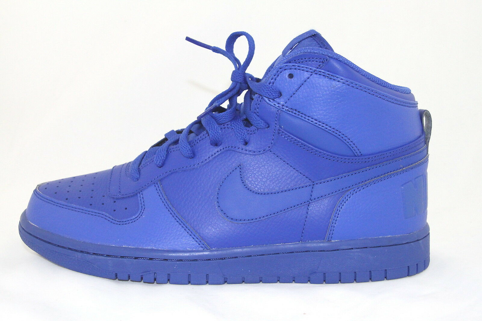 Nike Big Nike High Men's Sz 10 10 10 Basketball shoes Royal bluee Leather 336608 440 3d09f4