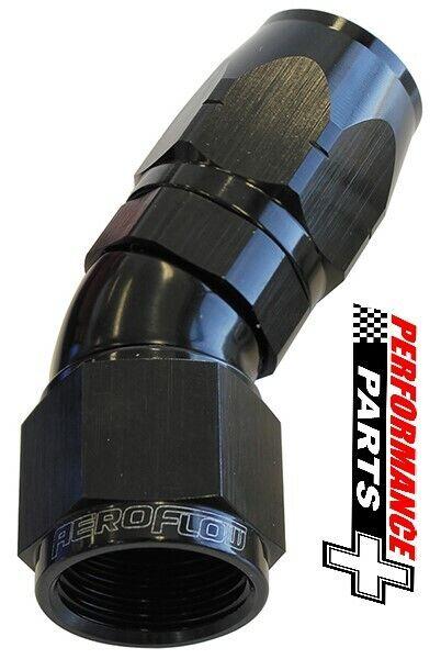 Aeroflow Cutter One-Piece Full Flow Swivel 30° Hose End -10AN AF557-10BLK