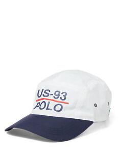 POLO RALPH LAUREN CP-93 5-Panel Nylon Cap Hat Nautica Cap WHITE NAVY ... da31e5e1d51