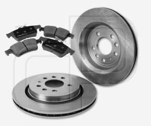 2-Bremsscheiben-und-4-Bremsbelaege-OPEL-Signum-hinten-Hinterachse-292-mm-beluefte