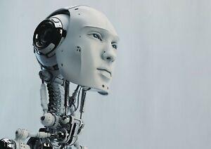 A1-Art-Poster-Of-Futuristic-Robot-60-x-90cm-180gsm-Artificial-Man-Gift-14248