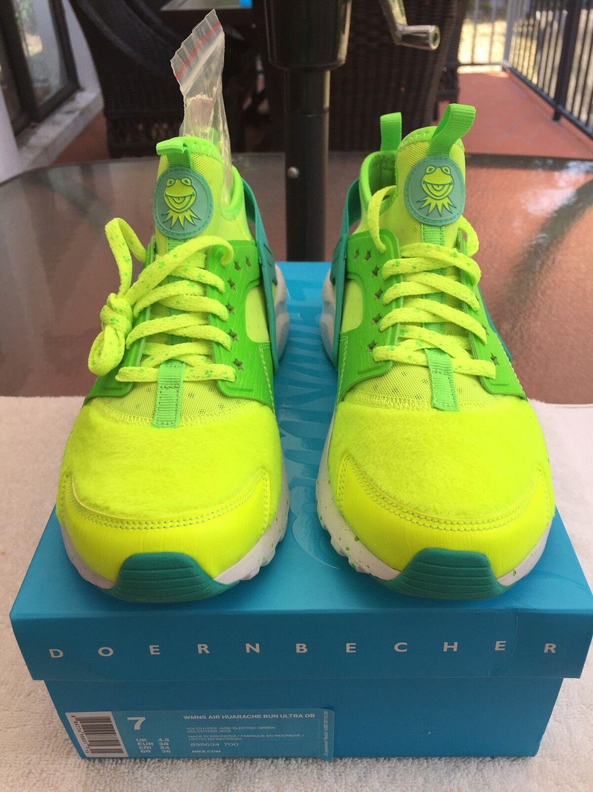 Nike Air Huarache Run Ultra DB Doernbecher Jade Kermit 898634 700 Women's Sz 7
