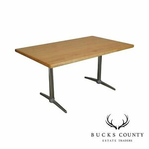Surprising Details About Butcher Block Top Mid Century Modern Chrome Base Dining Table Theyellowbook Wood Chair Design Ideas Theyellowbookinfo