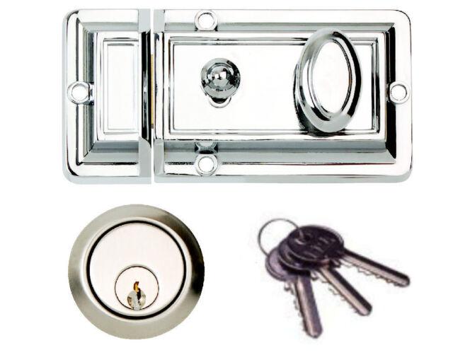 TRADITIONAL DOOR CYLINDER NIGHTLATCH RIM  LOCK NIGHT LATCH FRONT DOOR