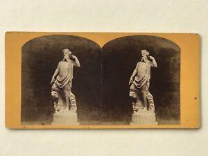 Neptune-Statua-Scultura-Esposizione-Fotografia-Stereo-Vintage-Albumina