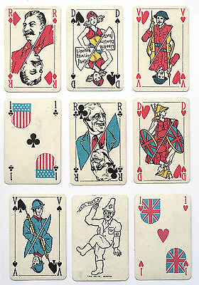 1945 'LE JEU DES ALLIES p/cards. Mesmaekers.Turnhout.PATRIOTIC. EXTREMELY RARE