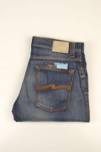 32928 Nudie Jeans Slim Jim Org. Broken Dream Bleu Hommes Jean Taille 36/32