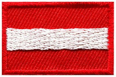 Flag of Austria Austrian Vienna Europe sew applique iron-on patch Medium S-1008