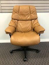 Ekornes Office Chair Leather Stressless Reno Modern Executive Reclining Swivel