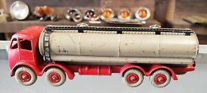 "Vintage DINKY Super Toys Foden Tanker Truck Meccano Ltd England 9 Tires 7"" Long"