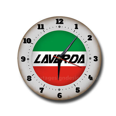 """Transportation High Standard In Quality And Hygiene Laverda Motorcycles 10"""" Diameter Metal Wall Clock.italian Motorcycles.man Cave Motorcycles"""
