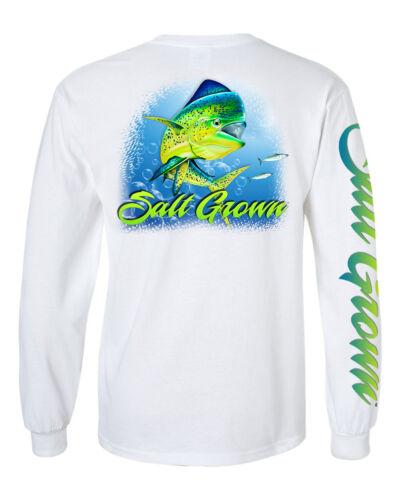 Salt Grown Long Sleeve Saltwater Dolphin fishing t shirt life trolling 50//50