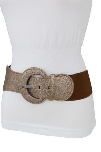 Women Fashion Metallic Bronze Sparkling Glitter Brown Belt Hip Waist Size XS S M