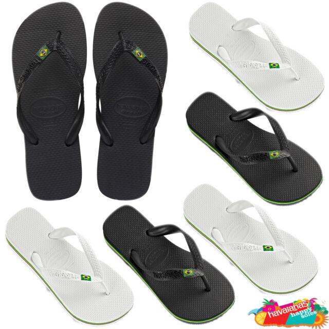 869c63950 Havaianas Brazil in White Black flip flops Brazil flag logo sandals thongs.