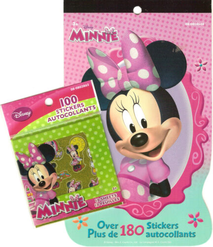 Hallmark Minnie Mouse Sticker Pad and 10 Sticker Sheets Over 280 Stickers!