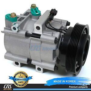 BRAND-New-A-C-Compressor-w-Clutch-58183-Fits-01-06-Hyundai-Santa-Fe-2-7L