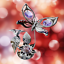 Crystocraft-Butterfly-amp-Flower-Crystal-Ornament-With-Swarovski-Elements-Gift-Box thumbnail 7