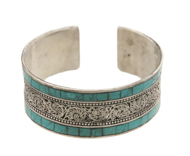 Bracelet tibétain aux turquoises reconstituées et son dragon GAR 4 9097
